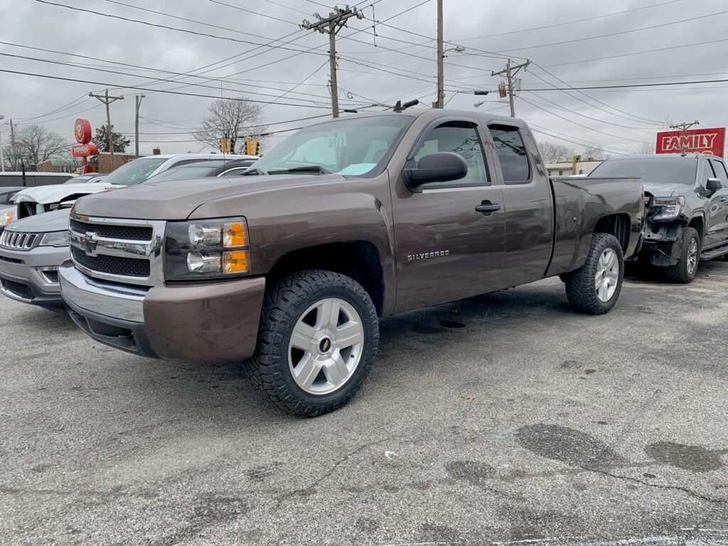 north east auto body shop grey chevy silverado truck 2